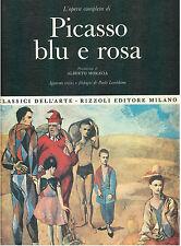 L'OPERA COMPLETA DI PICASSO BLU E ROSA RIZZOLI 1968 I° ED. CLASSICI DELL'ARTE 22