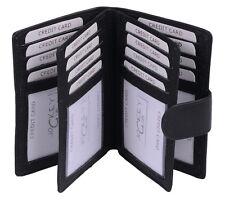 Kreditkartenmappe in Buchform für viele Karten LEAS in Echt-Leder, schwarz