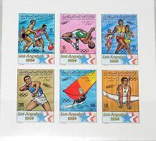 La Libye Libye 1983 bloc 70 B s/s 1111-16 Olympics 1984 Los Angeles sport MNH