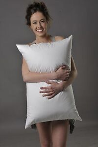 STANDARD SIZE FIRM PILLOW 90% WHITE HUNGARIAN GOOSE DOWN PURE LUXURY AUST MADE