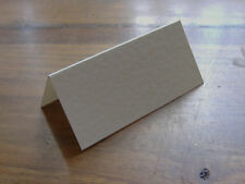 100 Hammered Cream Wedding Table Place Name Cards Blank