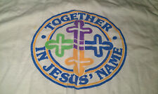 Together in Jesus Name Vintage T-shirt Youth Large YL 14-16 White Christ God