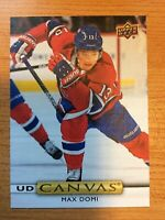 UPPER DECK 2019-2020 SERIES TWO MAX DOMI CANVAS HOCKEY CARD C-144