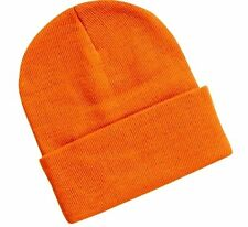 Hunter Orange Smooth Watch Cuff Cuffed Stocking Cap Beanie Winter Stocking R & M
