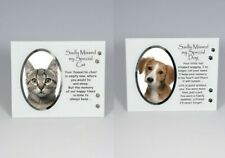 More details for cat, dog pet memorial photo frame tribute plaque  remembrance ornament