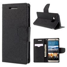 Korean Mercury Fancy Diary Wallet Case for HTC One M9 - Black