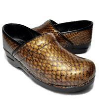 Sanita Copper Snake Womens 40 US 10 Nursing Clogs Shoes Scale Pattern