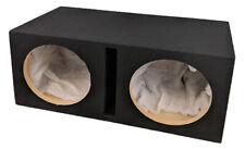 "Double Dual 12"" Custom Slot Ported box MDF enclosure for 2 x 12"" sub subwoofer"