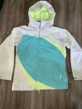Girls The North Face Hyvent Rain Jacket Aqua Blue M10-12