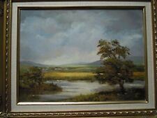 More details for original oil on canvas atmospheric landscape.river cree galloway scotland.signed