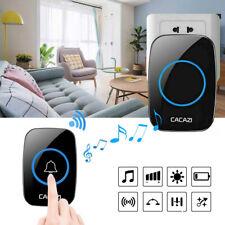 Wireless Doorbell Chime Waterproof Plug Receiver Adjustable Volume 1000FT