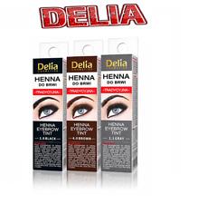 Delia Eyebrow HENNA Traditional Tint Kit Set Brown Black Graphite Eyelashes 2ml
