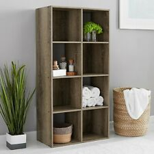 8 Cube Storage Organizer Bookcase Home Office Display Bookshelf Shelves Rustic