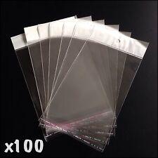 100 x Self Adhesive Retail Display Bags
