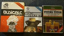 Commodore C64 Busicalc Word Perfect and Century Typing Tutor bundle