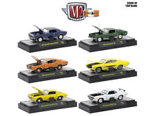 DETROIT MUSCLE, 6 CARS SET RELEASE 39 IN CASES 1/64 DIECAST M2 MACHINES 32600-39