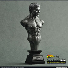 BUST 1/6 SCALE SILVER COLOR SH-ROME GLADIATOR DIY MULTIFUNCTION STATUE CMT-XJ003