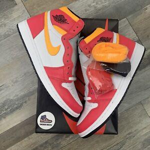 Nike Air Jordan 1 Retro High OG Light Fusion Red 555088-603 Size 10