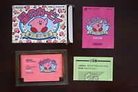 Famicom Kirby Adventure Hoshi no kirby boxed Japan FC game US Seller