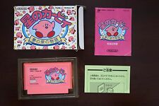 Famicom FC Kirby Adventure Hoshi no kirby boxed Japan game US Seller