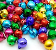 50 Ringing Jingle Bells Charms 14mm Xmas Mixed Colours Top Quality