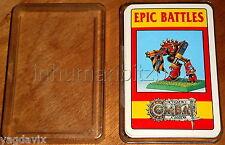 DCO18 CITADEL COMBAT CARDS x36 EPIC BATTLE WARHAMMER BOX OK