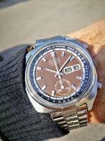 Seiko 6139-6002 Vintage Cronograph Tropical Chocolate Brown dial Senza Riserva