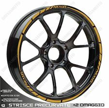 ADHESIVE PROFILES WHEELS RIM STICKERS  GILERA NEXUS 300 500 GOLD