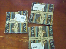 """PENNY ROSE HARRINGTON 5"""" STACKER 21 PC FABRIC QUILTING CHARM PACK LOT OF 3"""