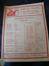 Partition Guitare J S Bach Emilio Pujol Sarabande Music Sheet
