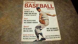 1963 Official Baseball Annual Magazine w/ Don Drysdale Cover,Harmon Killibrew