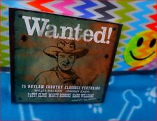 "3xCD New'18 BoxSet Freepost ""Wanted 75 Outlaw Country Classics"" Willie Nelson+"