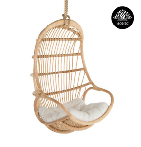 Hanging Rattan Chair Ceylon Natural Rattan Chair With Cushion Monic For Hotel Ou