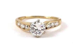 14k Yellow Gold Round Diamond Engagement Ring 1.62ct