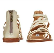 NEW TED & MUFFY Gold Tone Sandals Sizes:  9UK.