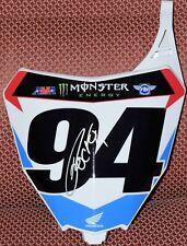 Ken ROCZEN #94 Signed HONDA Front Number Plate JSA COA Supercross Dungey Tomac