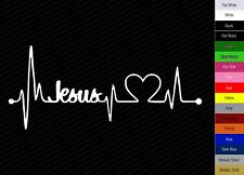 Jesus Heart Beat Monitor Car Decal Bumper Sticker Car Body Decoration Decals