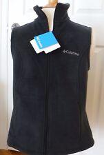 NEW Women's Columbia Sawyer Rapids 2.0 Black Full Zip Fleece Vest, Large, NWT!!