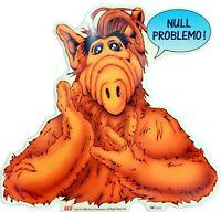 Durchsichtiger Alf Aufkleber NULL PROBLEMO 25 cm XL Sticker