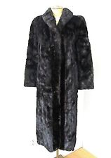 Vintage Blackglama black mink fur swing coat full length needs repair