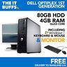 DELL OPTIPLEX Quad Core 4Gb 80Gb HDD WINDOWS 7 - FISSO PC COMPUTER Set