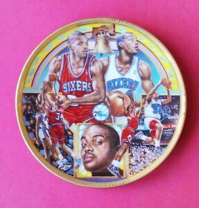 "CHARLES BARKLEY SPORTS IMPRESSIONS  4""  Philadelphia 76ers Gold Rim Plate Rare"