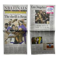 LA Times Newspaper Los Angeles Lakers NBA Champions Finals - October 12 2020
