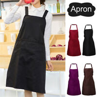 Women Cooking Clothing Accessory Chef BBQ Apron Antifouling Uniform w/Pen Slots