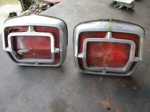 65 PLYMOUTH BELVEDERE II SATELLITE TAIL LIGHTS LEFT RIGHT W/ HOUSINGS OEM SET