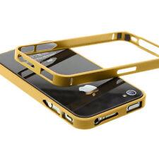 Apple iPhone 4 4S Alu Bumper in gold - Schutz Hülle Handy Case Schale Rahmen