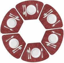Round Table Wedge Placemats for Kitchen dinning Table Set of 6, 48*33cm