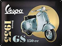 Vespa GS150cc Since 1955 Relieve Edición Especial Metal Signo 400mm x 300mm (Na
