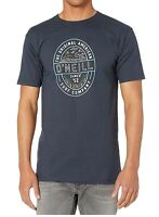 O'Neill Mens T-Shirt Navy Blue Size Large L Stamp Logo Craft Crewneck Tee- 800