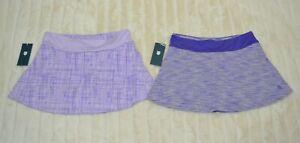 NWT K.SWISS LOT of 2 Lilac Purple Tennis Workout Skorts/skirt, sz S